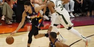 【大发扑克】字母与布克今年总决赛各有2次单场40+ NBA历史首对