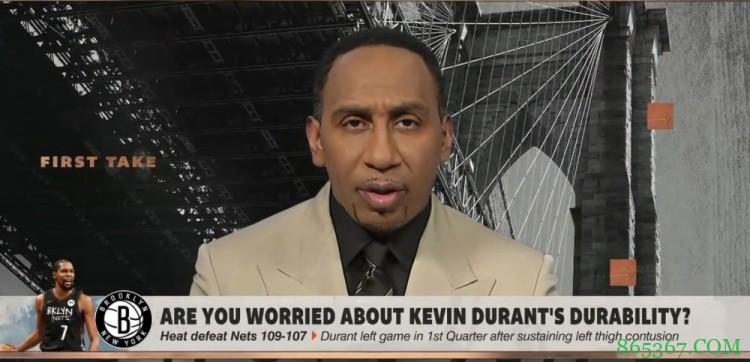 A-史密斯:担心杜兰特的伤势 没他篮网无法冲出东部