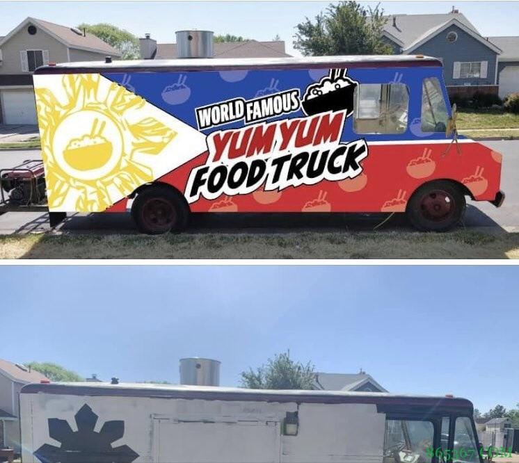 球星!克拉克森协助盐湖城一被反亚裔破坏的餐车重新喷漆